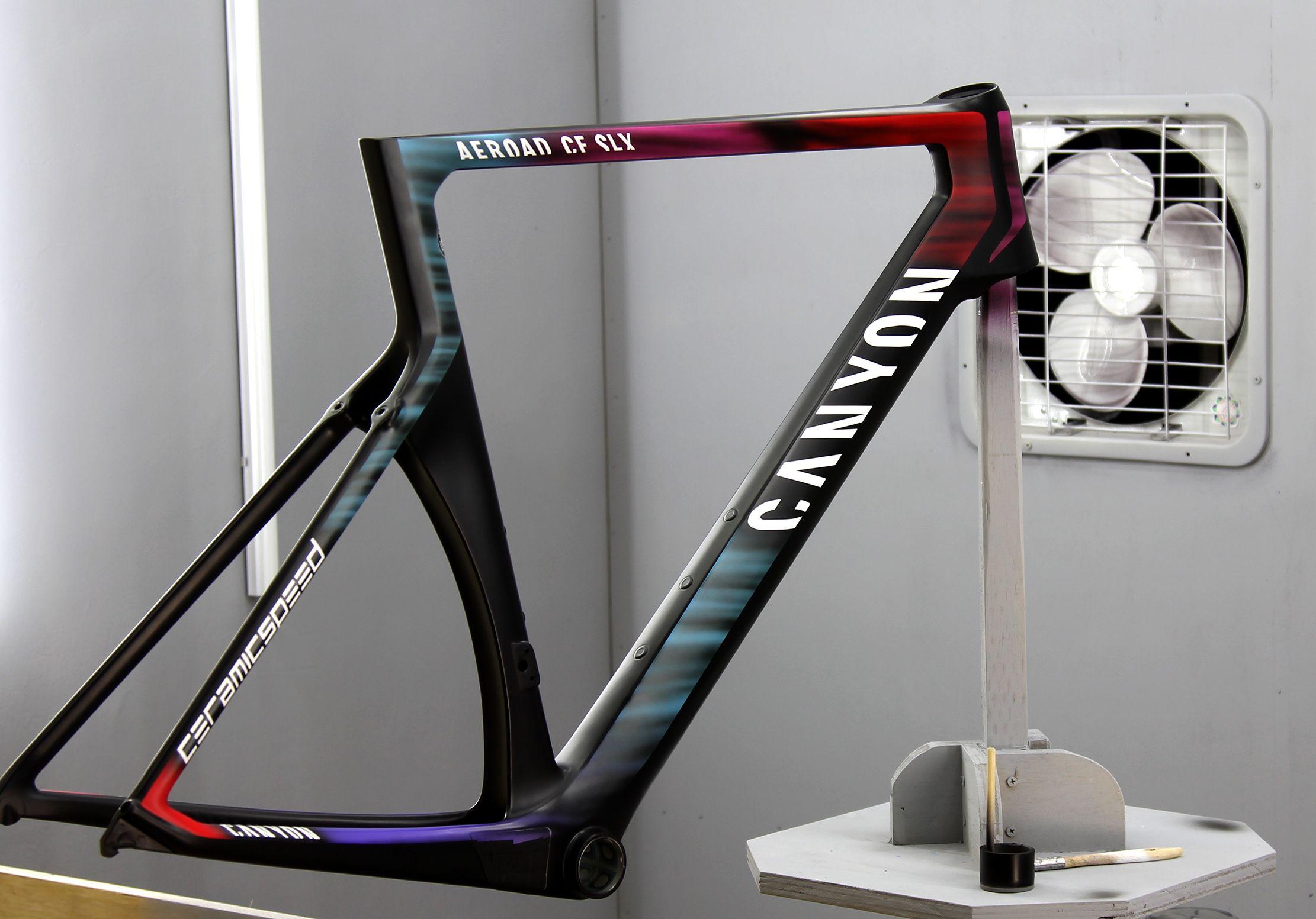 Canyon Aeroad Cf Slx Full Renovation And Respray Bicycle Paint