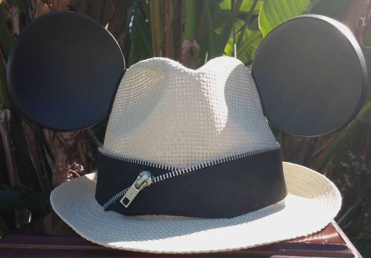 38466a1cea09f Mickey Mouse Ears. Mickey Mouse Fedora Hat. Original Disneyland Hat. Mickey  Mouse Ears