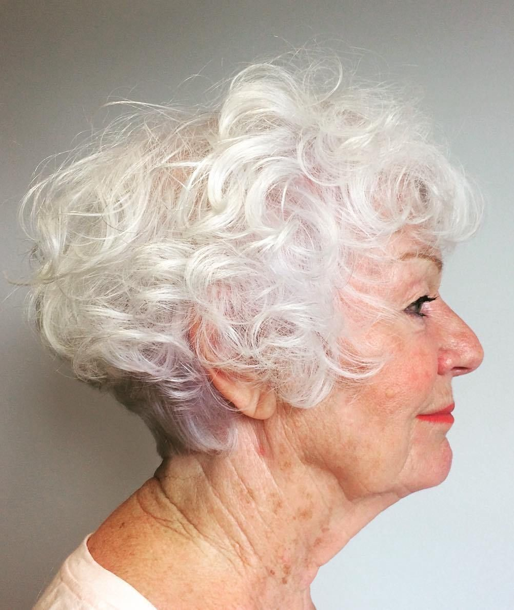 Short Curly Hairstyle For Women Over 60 Short Curly Hairstyles For Women Gorgeous Gray Hair Grey Curly Hair