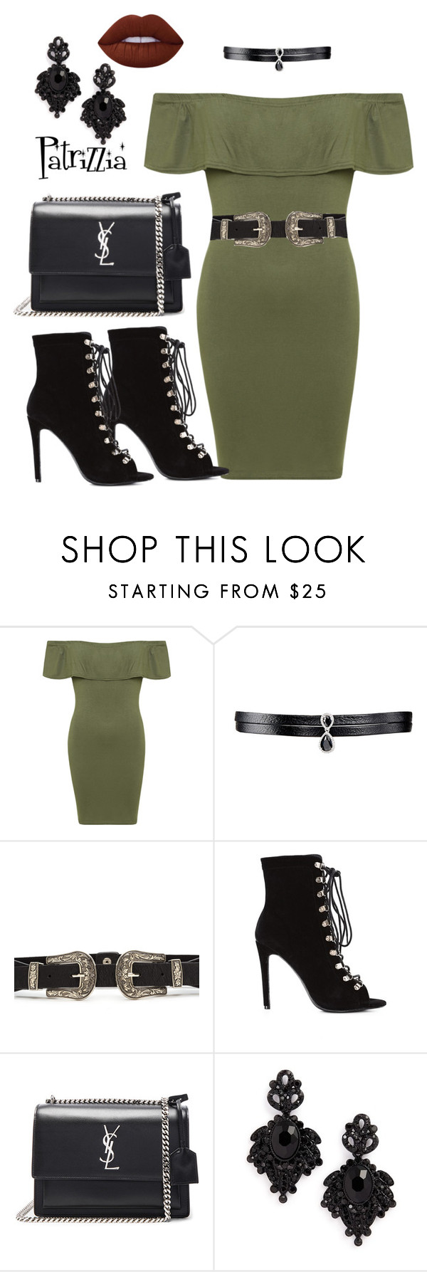 Patrizzia09.10.2016d by patrizzia on Polyvore featuring moda, WearAll, Yves Saint Laurent, Fallon, Tasha and Lime Crime