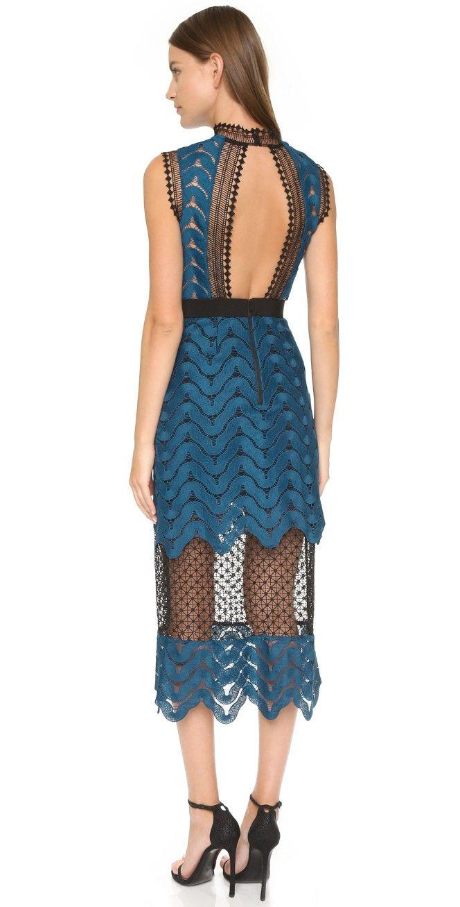 75d8b9e54a7f Scallop High Neck Midi Dress | แฟชั่นผู้หญิง | Dresses, Fashion ...