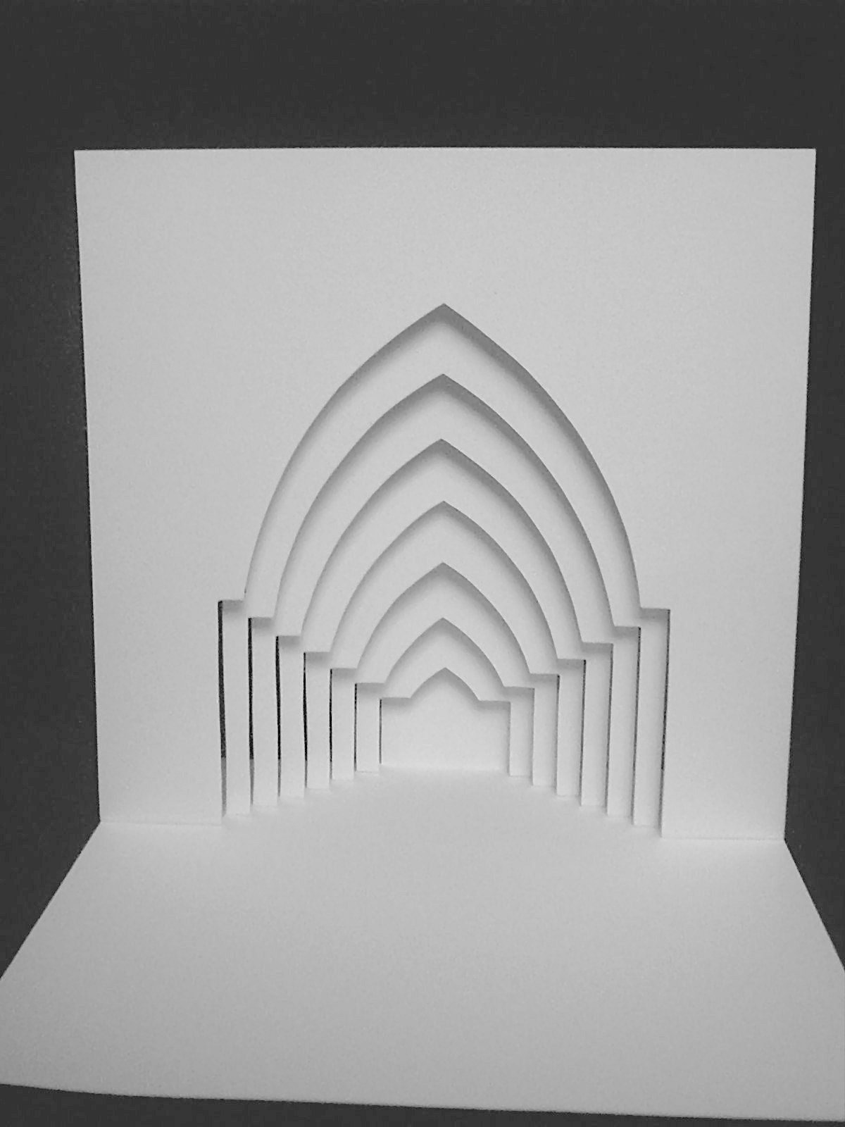 Kirigami arches kirigami pinterest kirigami arch for Kirigami paper art