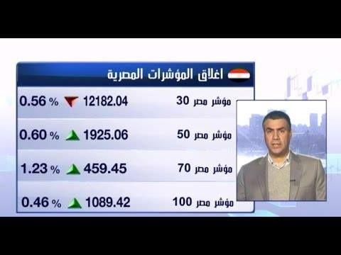 المؤشرات المصرية تنهي تداولاتها على تباين بضغط من الأسهم القيادية - أنهت البورصة المصرية ثاني تداولات الأسبوع على تباين في مؤشراتها حيث أغلق المؤشر الرئيسي للسوق المصري إي جي إكس 30 منخفضا بنسبة 0.6% أي ما يعادل 69.02 نقطة لينهي التداولات عند مستوى 12182.04 نقطة. بينما ارتفع المؤشر الثانوي إي جي إكس 70 بنسبة 1.2% ليغلق عند 459.45 نقطة كما أنهى المؤشر إي جي إكس 100 جلسة اليوم عند 1089.42 نقطة مرتفعا بذلك 5 نقاط. وبلغت قيمة التداولات لجلسة اليوم نحو 986 مليار جنيه وخسر رأس المال السوقي للأسهم…