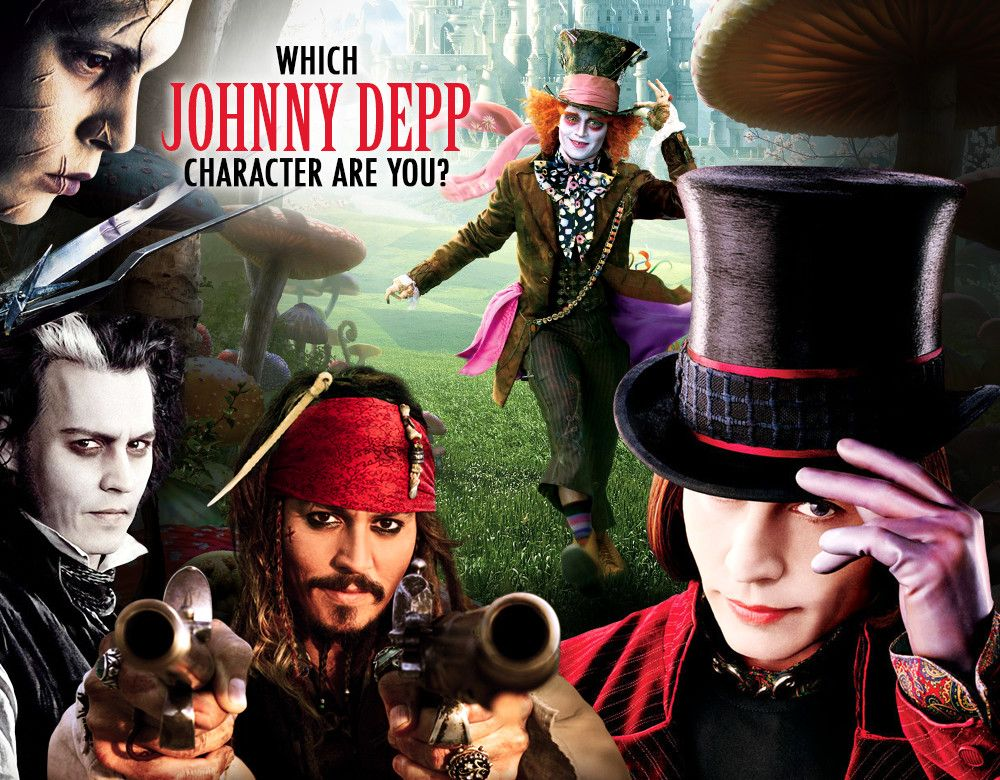 Which Johnny Depp Character Are You Quizzes And Questions