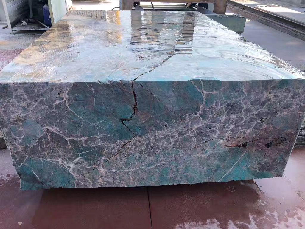 Amazonite Block Ckstones Marble Suppliers Stone Table Top Amazonite