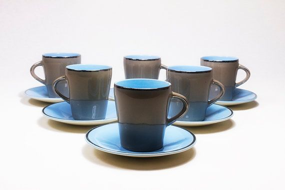 6 Palissy Tea / Coffee Cups And Saucers  by SomelikeitvintageCo