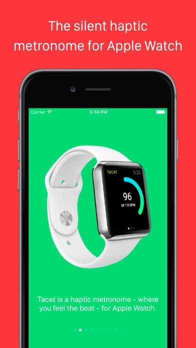 tacet Haptic Silent Metronome for Apple Watch by James