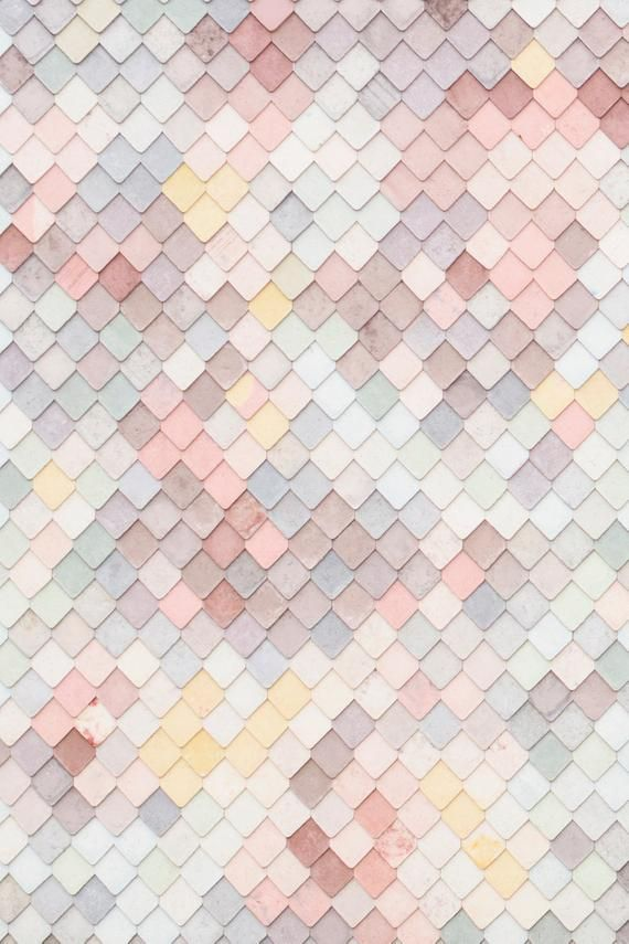 London Photograph - Pastel Tiled Wall, Abstract Pastel Decor, England Fine Art Photograph, Kitchen Home Decor, Large Wall Art