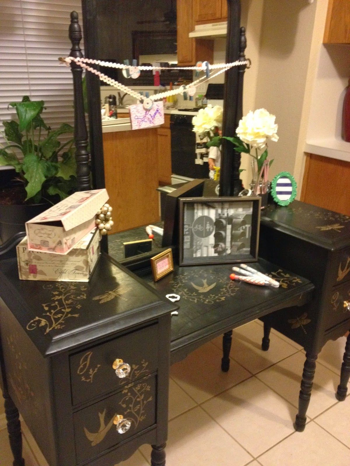 This is my grannyus vanity table that she used everyday she passed