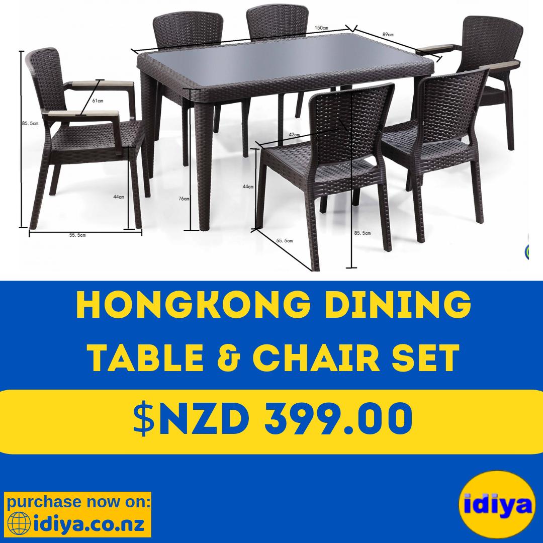 Outdoor Dining Table Set 6 Chairs 1 Table Idiya Ltd Outdoor Dining Table Setting Dining Table Chairs Outdoor Dining Table [ 1080 x 1080 Pixel ]