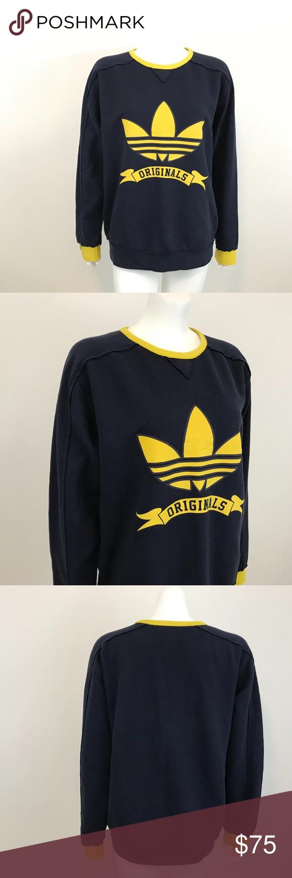 Adidas Originals Trefoil Crewneck Sweatshirt M Trendy Sweatshirt Sweatshirts Sweatshirt Refashion [ 1740 x 580 Pixel ]