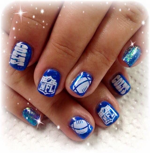 Indianapolis Colts #nailart #manicure #figtreestamps #figtreecomp ...