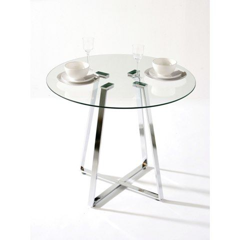 Melito Round Glass Dining Table Round Glass Small