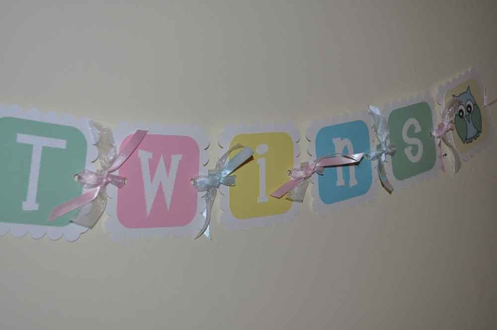 Twins baby shower decorations google search baby for Baby shower decoration ideas for twins