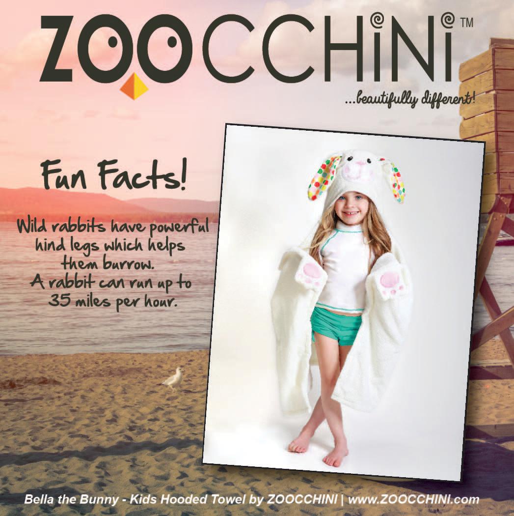 Bunny Fun Fact from Bella the Bunny #Zoocchini #HoodedTowels #Towels #Kids #SummerCamp #Beach #Pool #KidsFashion #KidsHoodedTowels