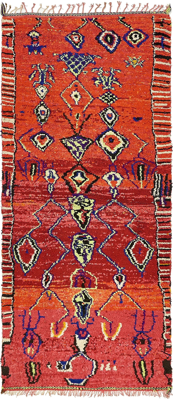 Red 4 X 9 Moroccan Runner Rug Oriental Rugs Irugs Uk
