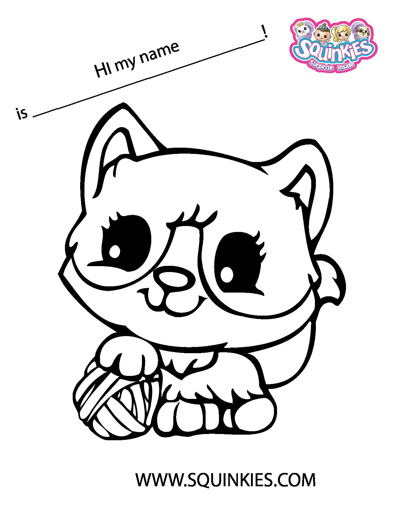 Squinkies Coloring Page! | Squinkies Activities | Pinterest