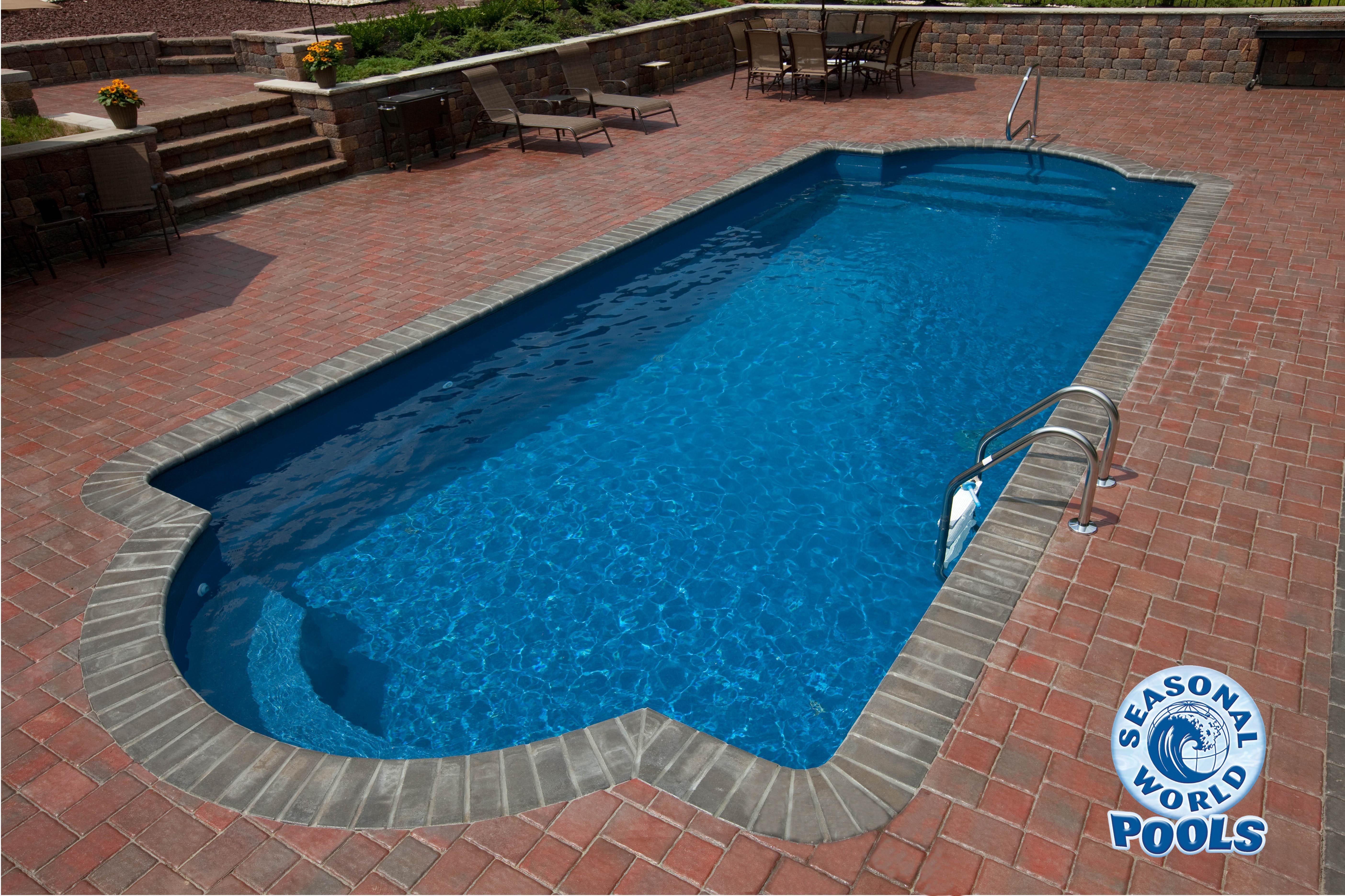 Fiberglass bellaran double roman fiberglass pools pinterest