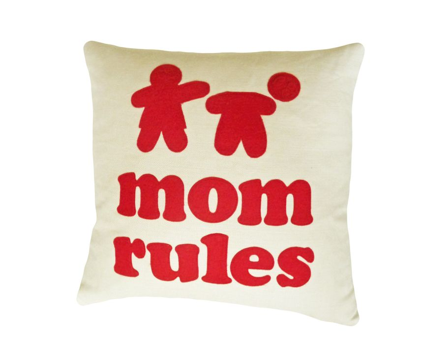 MOM RULES Throw Pillow and many more gift ideas for her on her ...