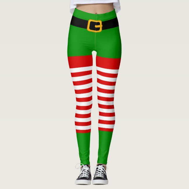 Christmas elf costume Leggings #christmas #elf #costume #stripe #stripes - Do you have ones like the...