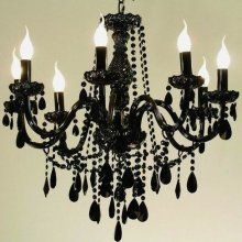 Is there anything more fem fatal than a black chandelier french is there anything more fem fatal than a black chandelier mozeypictures Choice Image