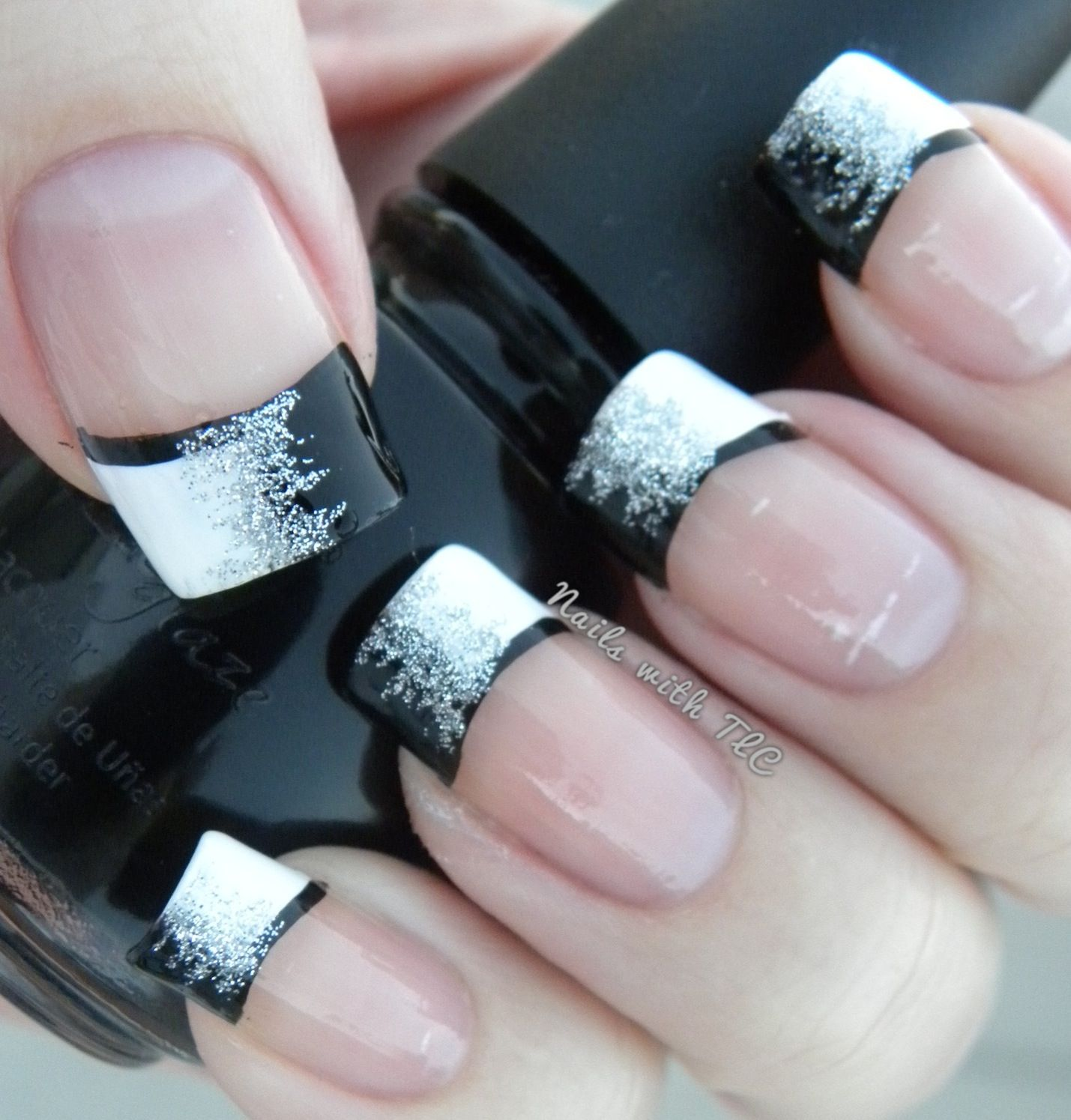 nageldesign french 5 besten - Page 5 of 5 | Black glitter, Facebook ...
