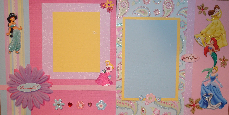 Scrapbook ideas layouts free - Disney Princess Scrapbook Layout Scrapbook Com