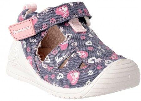 7d2ce184c44 Biomecanics 192204 Blue Pink Canvas Shoes - Biomecanics - Little Wanderers