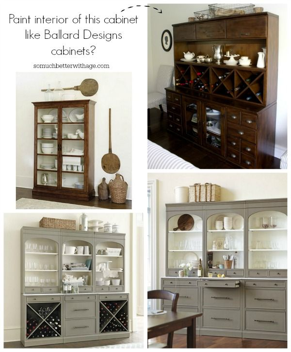 Paint The Interior Of This Cabinet Like Ballard Designs Cabinets So Much Better With Age