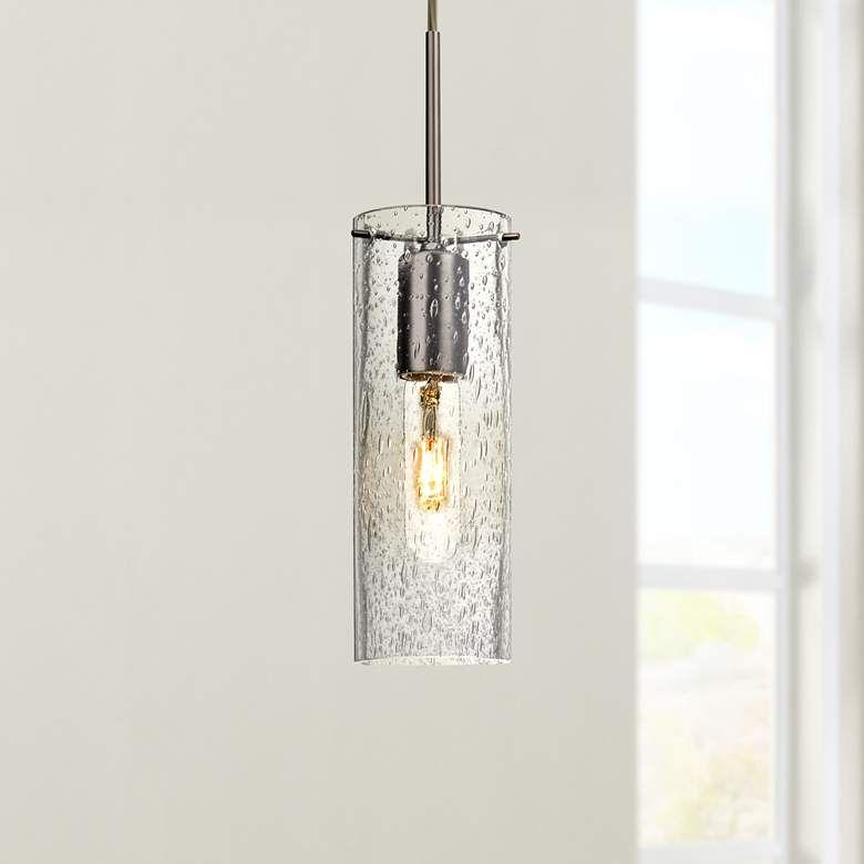 Besa Juni 10 3 1 2 Wide Clear Glass Mini Pendant 8y809 Lamps Plus In 2020 Clear Glass Mini Pendant Mini Chandelier