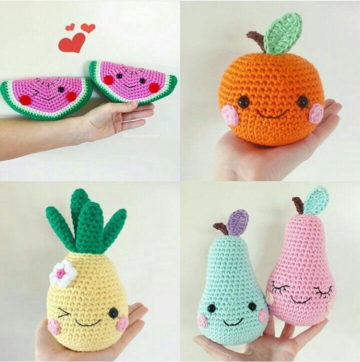 Ideias | frutas tejidas | Pinterest | Tejido
