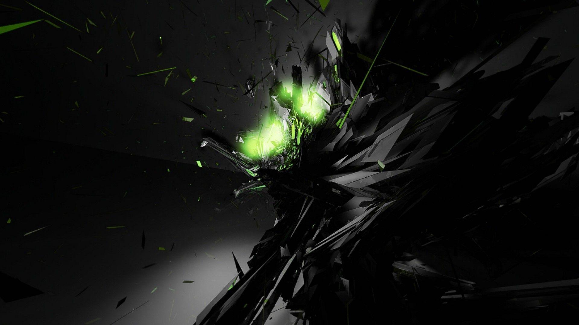 Res 1920x1080 Black Abstract Green Glow Desktop Wallpaper In 2020 Dark Black Wallpaper Abstract Wallpaper Cool Desktop Wallpapers