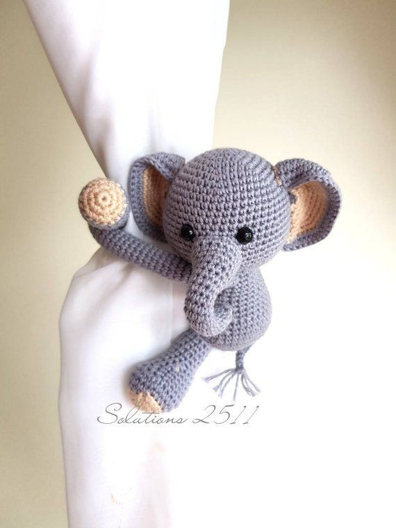 Monkey curtain tie back cotton yarn crochet monkey door thujashop ... | 760x570