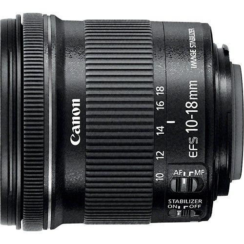 Canon Ef S 10 18mm F 4 5 5 6 Is Stm Ultra Wide Zoom Lens Black 9519b002 Best Buy Canon Lens Best Camera Lenses Zoom Lens