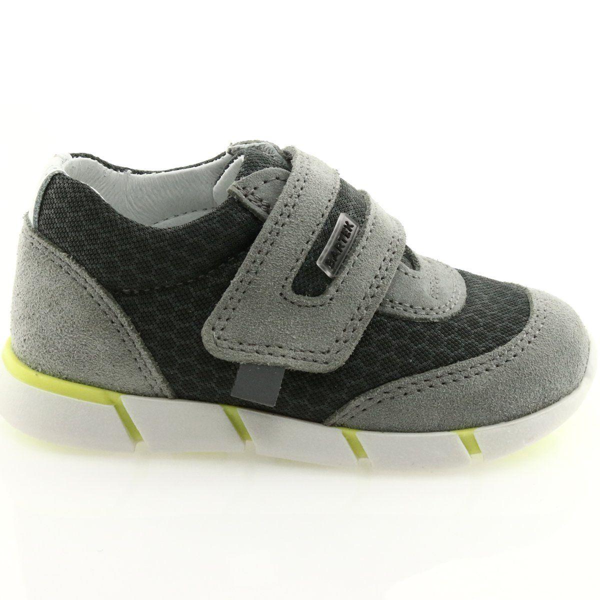 Buty Sportowe Na Rzep Bartek 51949 Szare Shoes Baby Shoes Sneakers