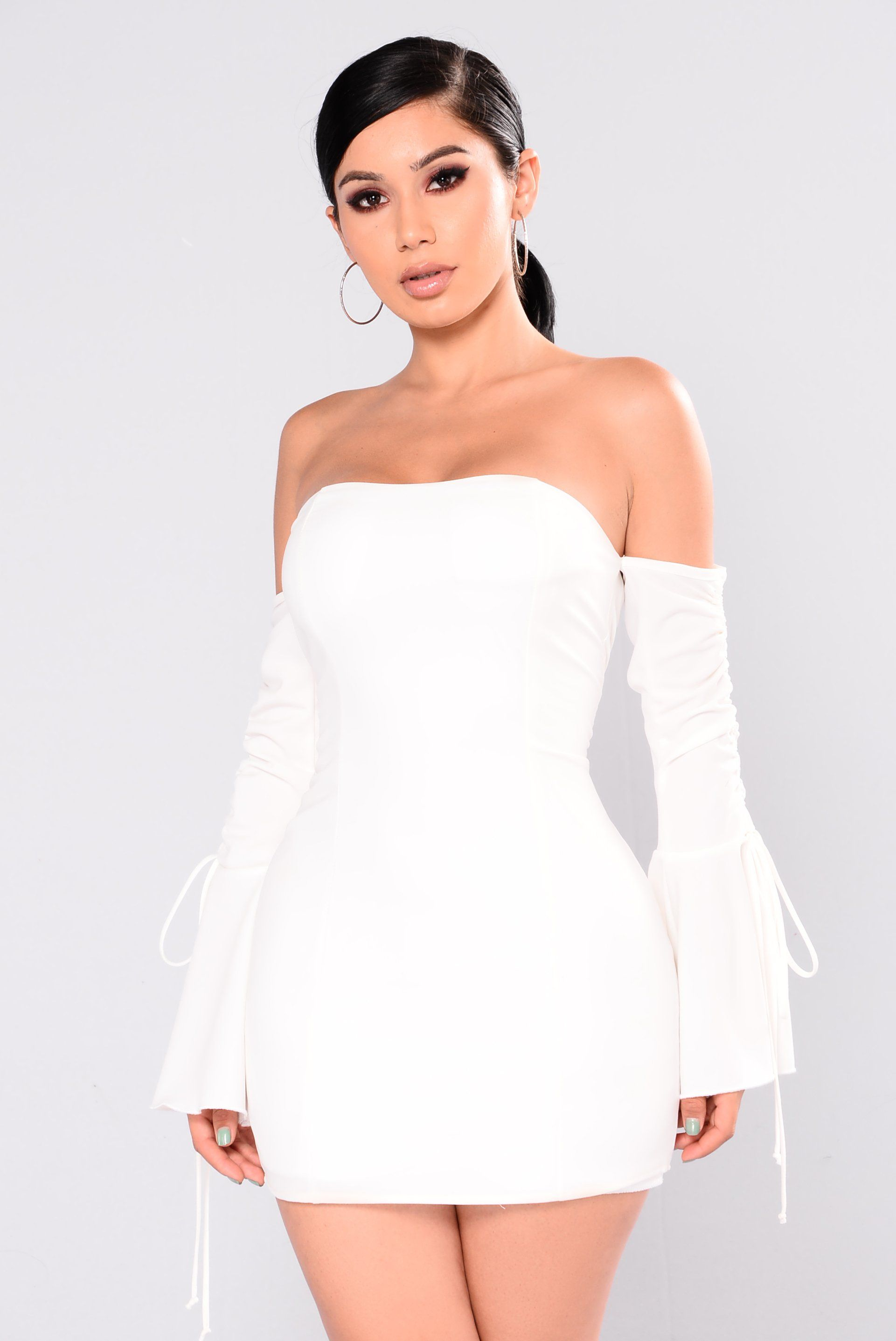 Kannes Off Shoulder Dress Ivory Women S Fashion Dresses Fashion Nova Dress Dresses