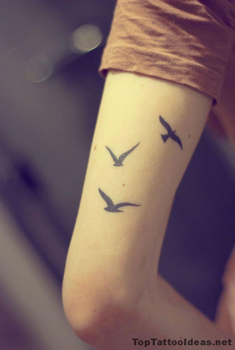 Three Birds Arm Tat Tattoo Idea Top Tattoo Ideas Bird Tattoos Arm Tattoos For Guys Small Tattoos For Guys