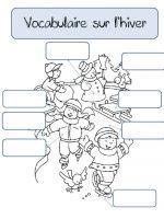 Coloriage Classe Cp.Cp Vocabulaire Sur L Hiver Hiver Teaching Schools Learn