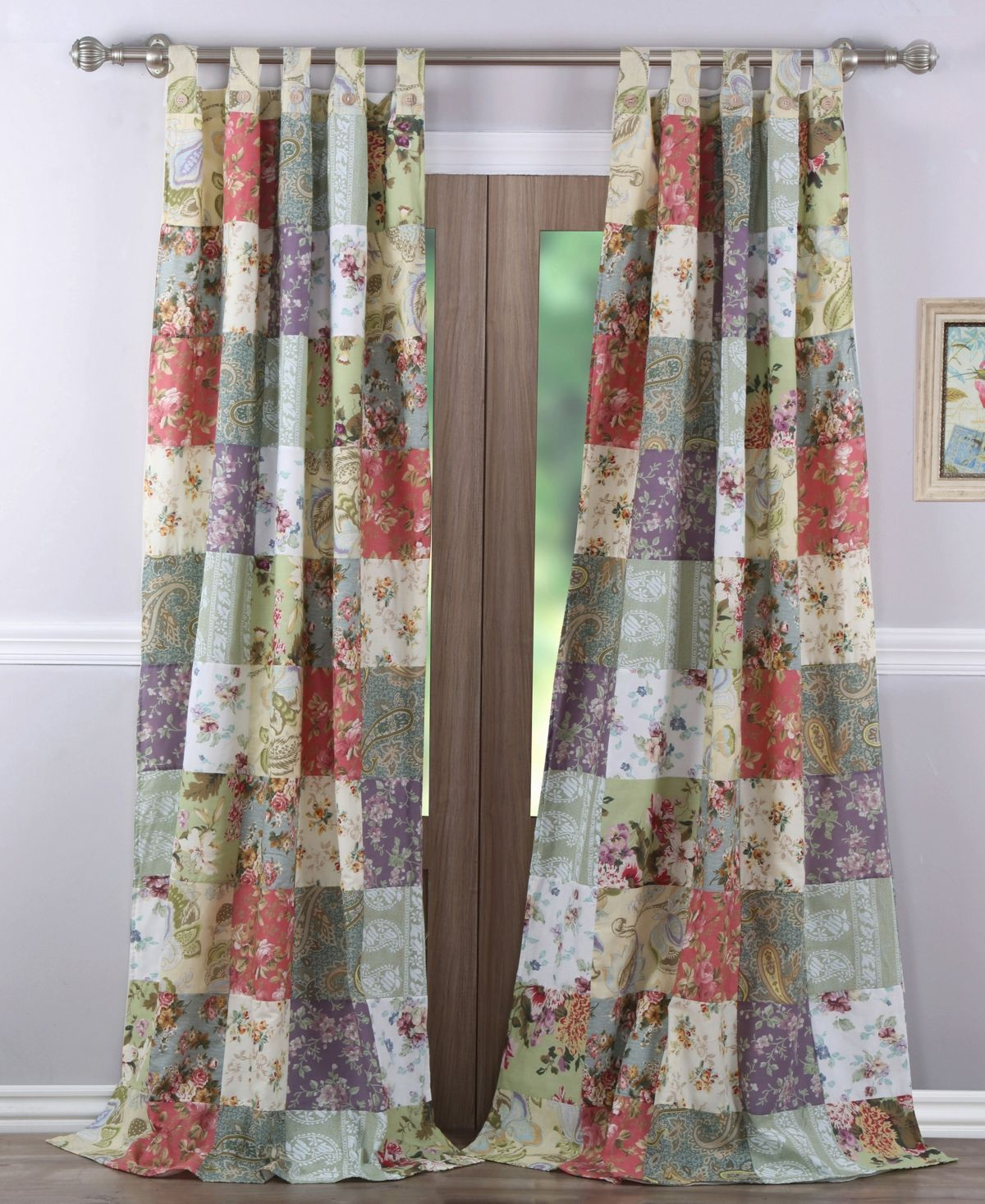 Greenland Home Fashions Blooming Prairie Window Panel Pair