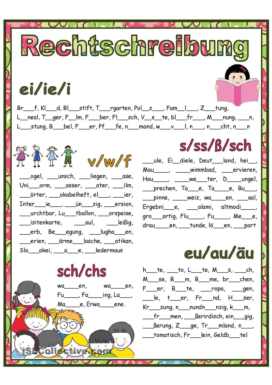 Rechtschreibung | Pinterest | Learning
