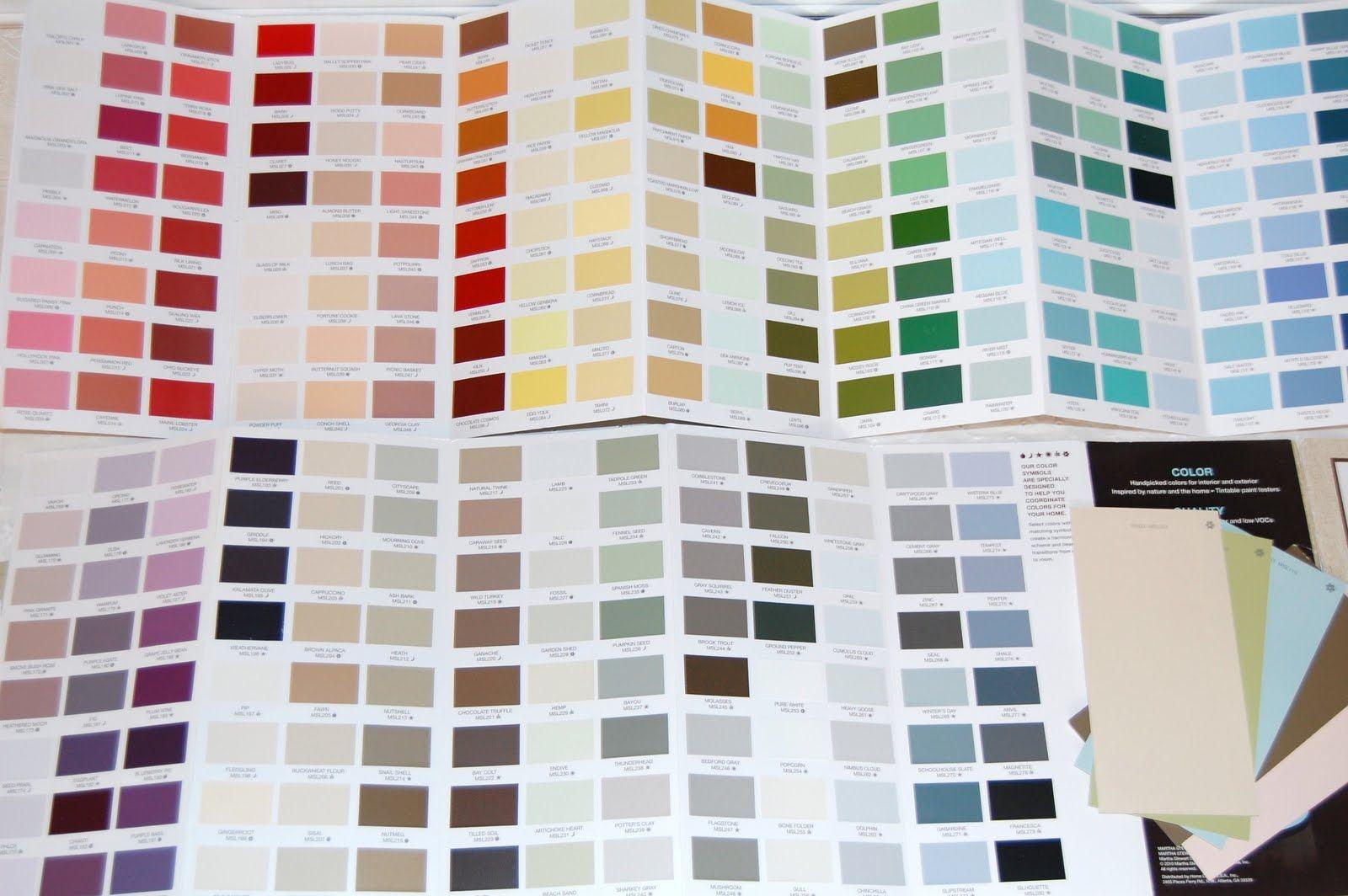 Martha Stewart Paint Color Chart 2019 Paint Color Chart Paint