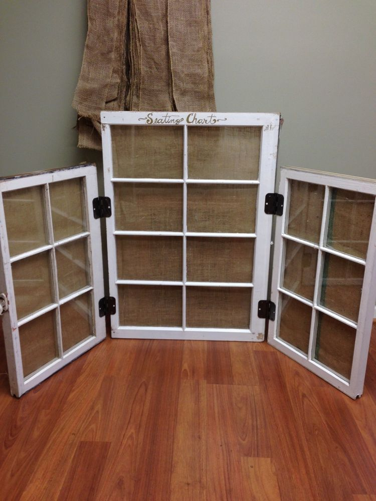 Vintage trifold window pane seating chart wedding party event table also rh pinterest