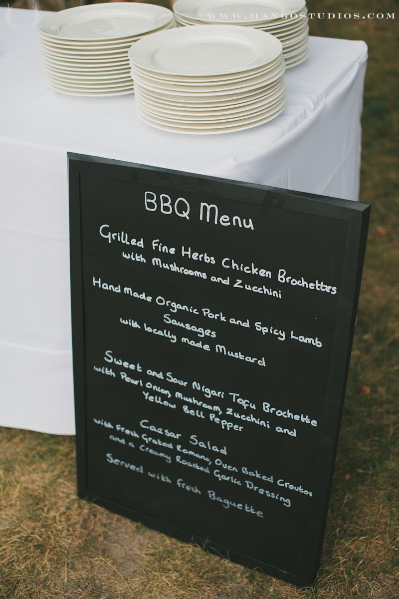 Weddings Reception Menu Bbq Inspiration Stationary