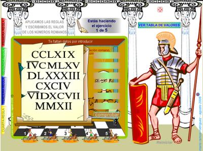Aprender los nmeros romanos  equivalencias  Segundo ciclo