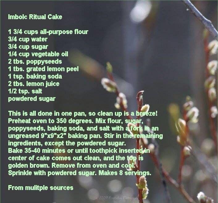 Imbolc ritual cake