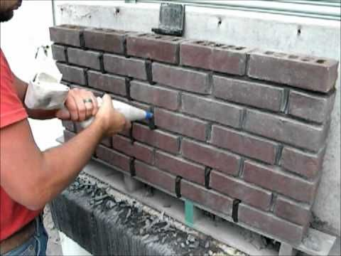 Easy Tuck Point Using A Masonry Grout Bag Youtube Brick Walkway Brick Decor Brick Fireplace Wall