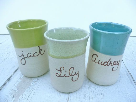 Personalized Children's Cup, Kids Pottery, Dishware for Children, Handmade cup, Cup with Name, Kids Ceramic #dishware