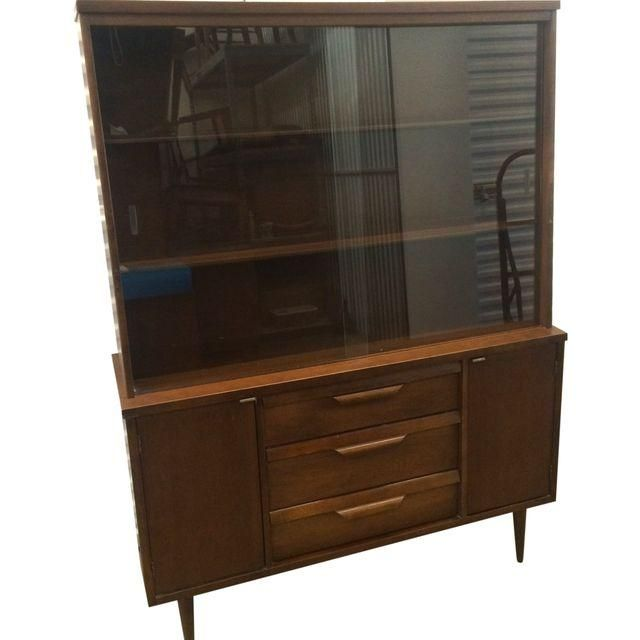 image of midcentury modern china cabinet by bassett