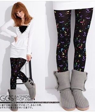Stylish Colorful Graffiti Leggings for Women on BuyTrends.com, only price $5.07