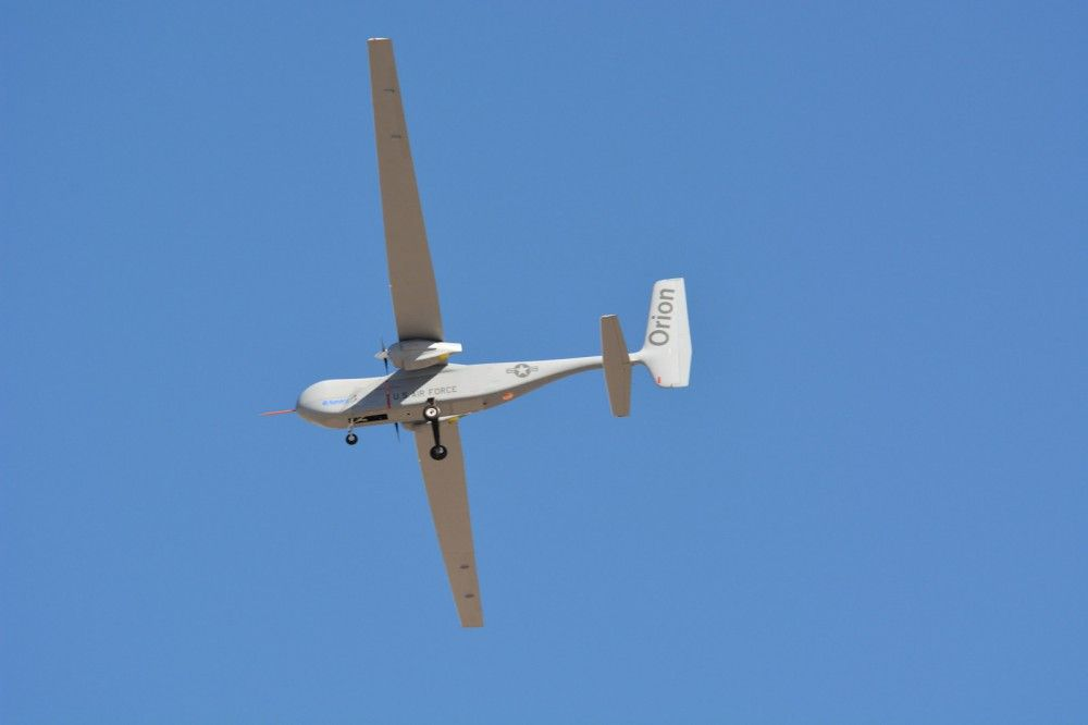 Orion is a twin-engine high performance UAS that can stay aloft over